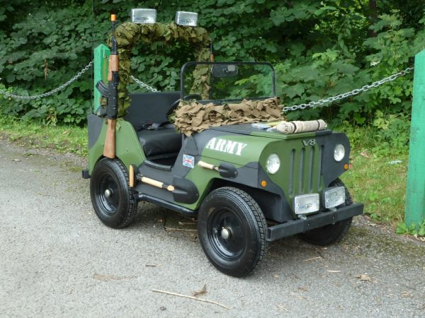 Electric Powered Army Jeep