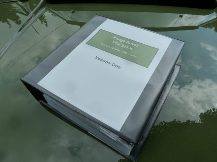 1971 Range Rover Classic - histroy folder