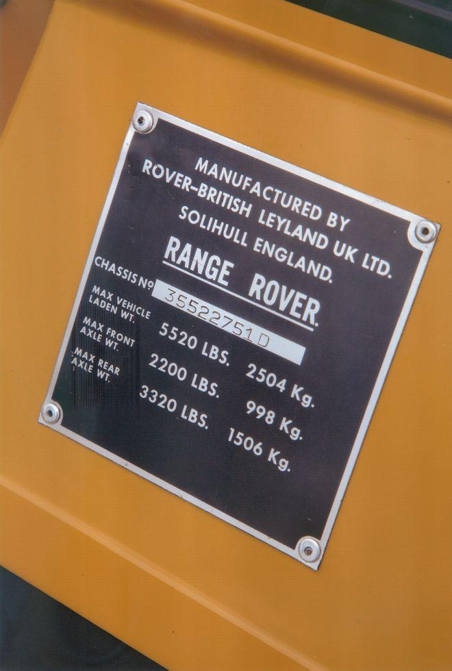 1976 Range Rover 2 Door Classic