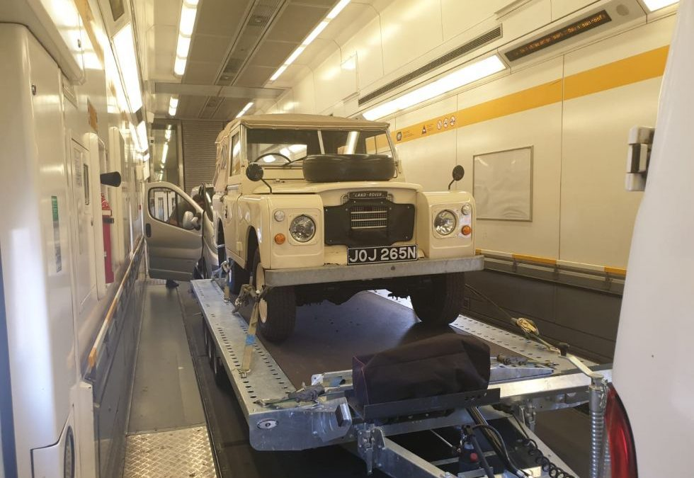 In transit to Belgium !