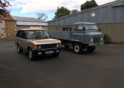 Classic Range Rover and 109 F/C