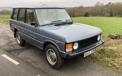 "New Arrival – 1983 ""In Vogue"" Classic Range Rover"