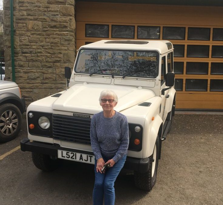 Kate from Halifax – Collecting her Defender