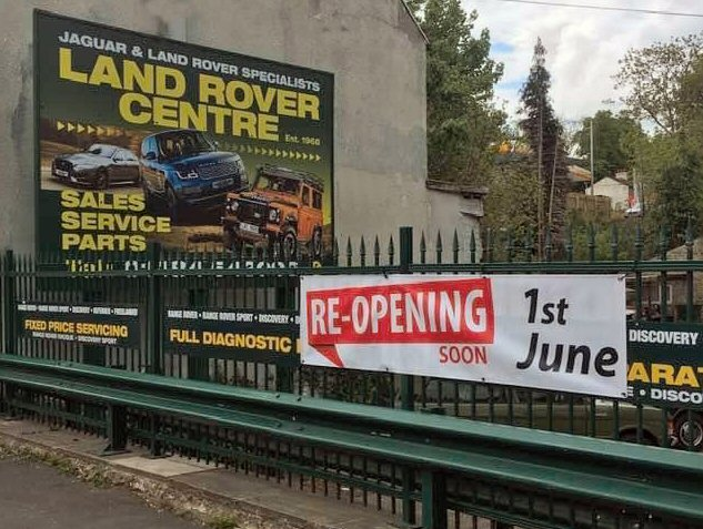 Land Rover Centre to re-open 1st June