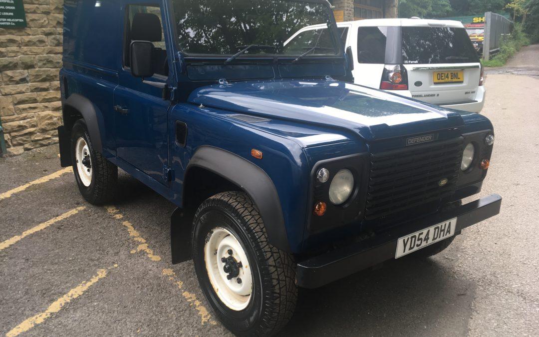 Ready for collection – Our 2004 Defender
