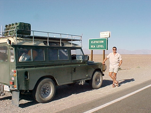 Land Rover series III 109 3 door with roof rack, safari roof - rebuilt and exported to Seaside california - death valley