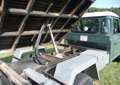 land rover 130 tipper