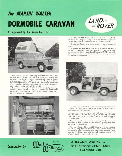 dormobile brochure