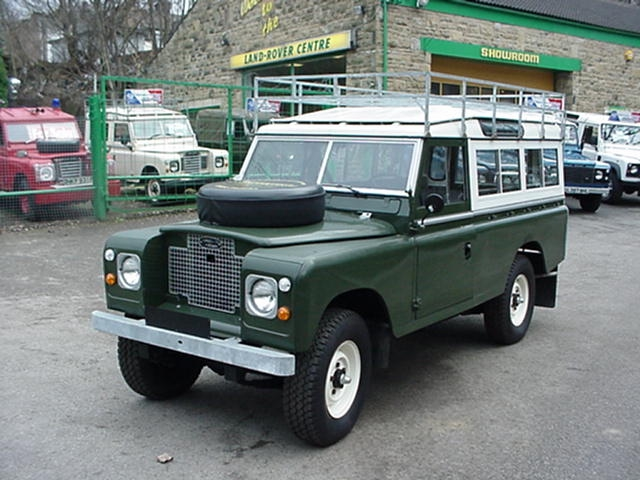 Land Rover series III 109 3 door with roof rack, safari roof - rebuilt and exported to Seaside california