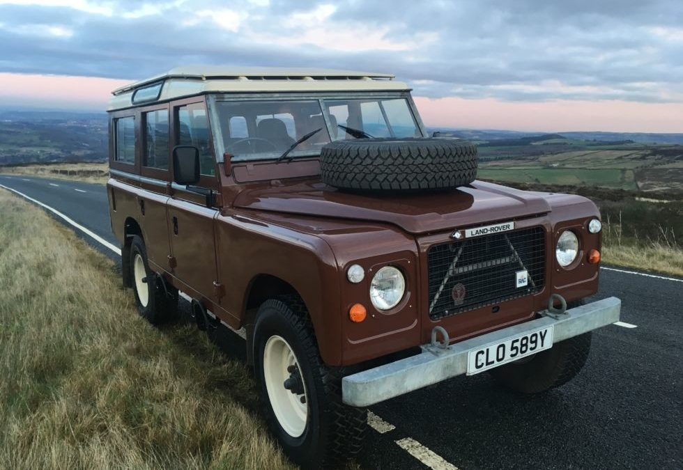 Test Driving our restored 1983 Land Rover Series 3 – 109 Stage 1 V8