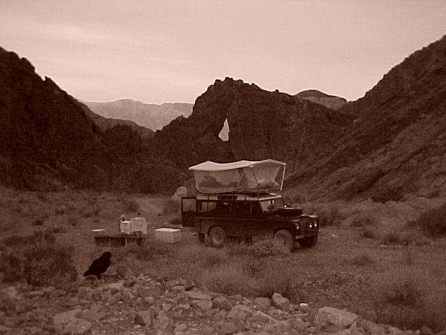 Land Rover series III 109 3 door with roof rack, safari roof - rebuilt and exported to Seaside california - seen here at Echo Canyon