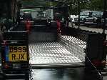 Richard Hammond - top gear presenter - 110 defender V8 soft top - 7 days in the making - day 4 - rear chequer plate kit in place