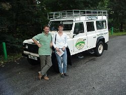 Stephen and Audreay Wager - Collecting their 110 Defender station wagon