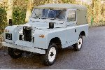 YVS 414 - 1963 Land Rover Series IIA 88 soft top - seen here at Land Rover Centre Huddersfield