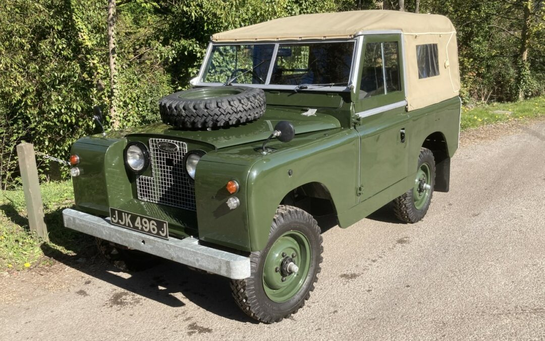 JJK 496J – 1962 Land Rover Series IIA – Purchased by James from Norfolk