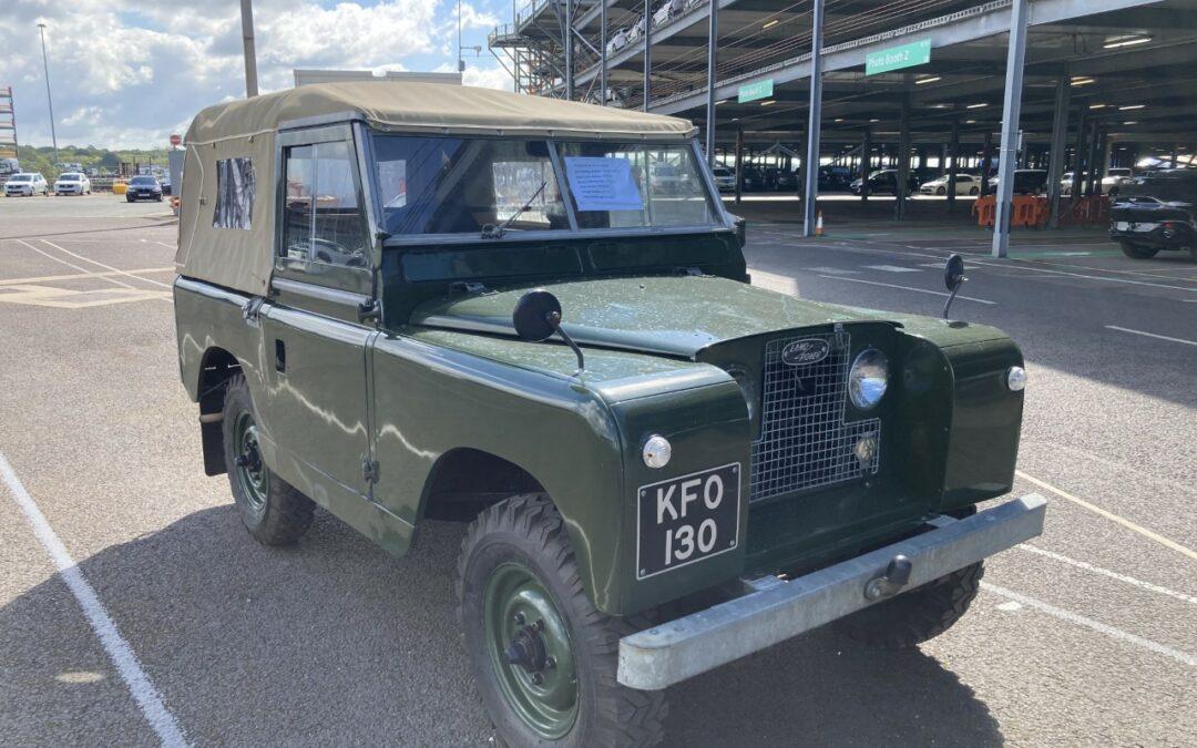 On it's way to the USA – KFO 130 – 1963 Land Rover Series IIA survivor