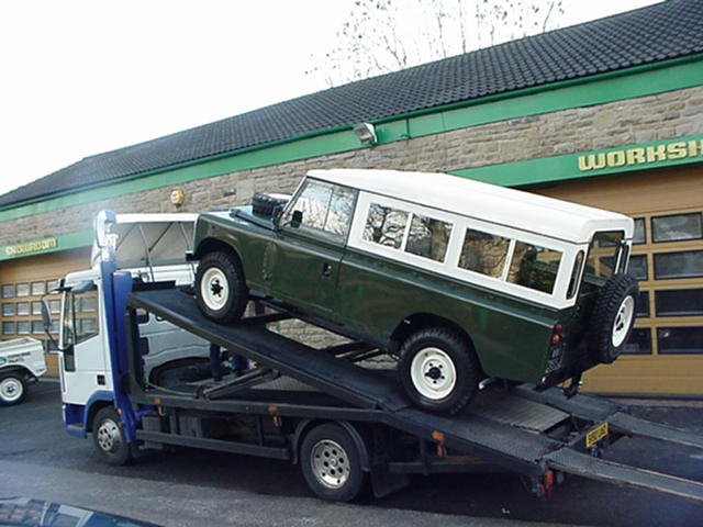 1971 Land Rover series IIA 109 LHD - Loaded up - ready for it's trip to Southampton Docks